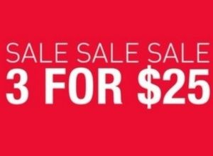 $3/$25 SALE while supplies last